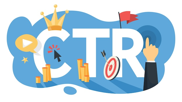 Ctr acronym for click through rate illustration