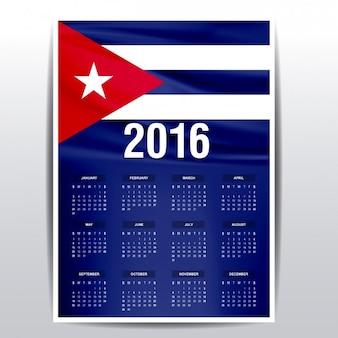 Cuba calendar of 2016