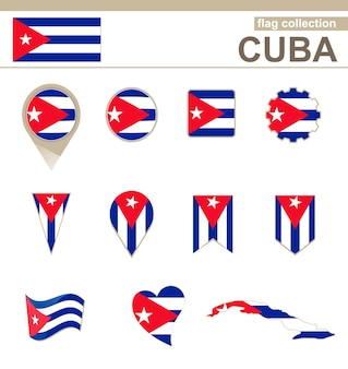 Cuba flag collection, 12 versions