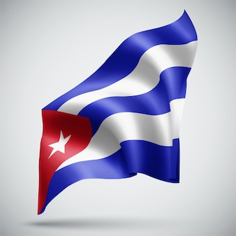 Cuba, vector 3d flag isolated on white background