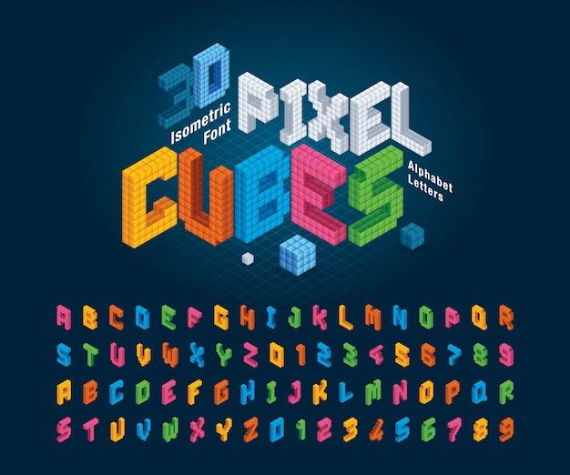 큐브 알파벳 문자와 숫자