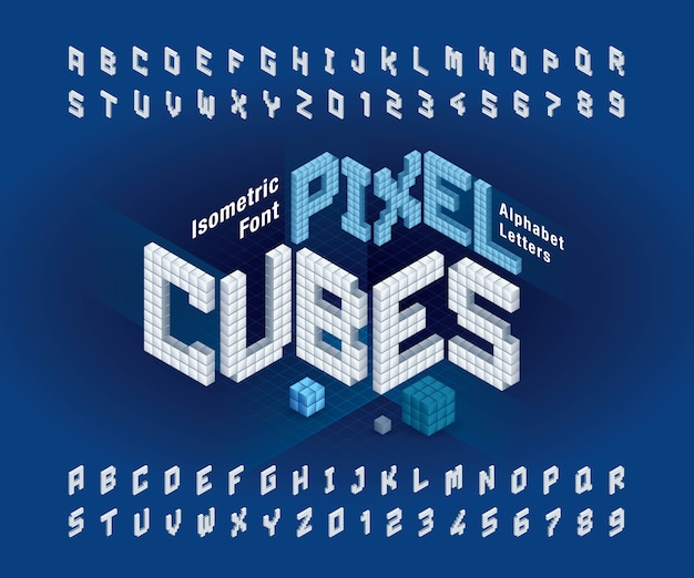 Cube alphabet letters and numbers