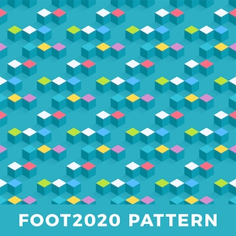 Cube isometric seamless pattern design.