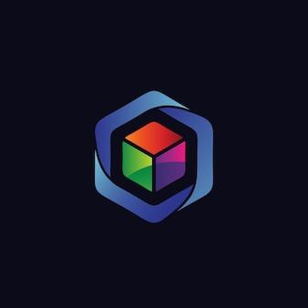 큐브 로고 디자인