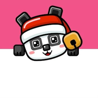 큐브 스타일 귀여운 크리스마스 팬더 엿보기