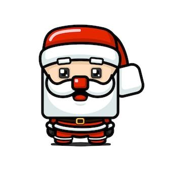 큐브 스타일 귀여운 산타 클로스 캐릭터