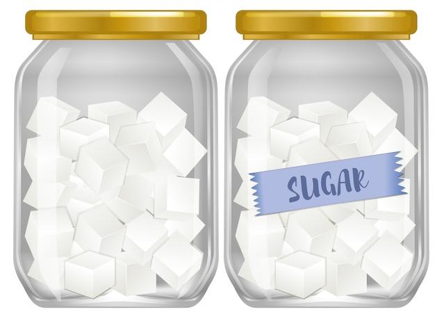 Кубический сахар в банке