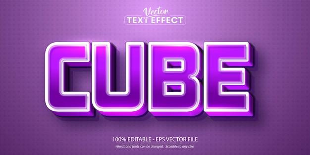 Cube text, cartoon style editable text effect