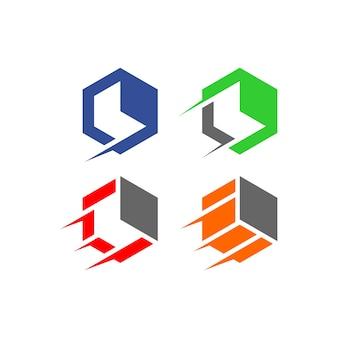 キューブベクトルロゴ