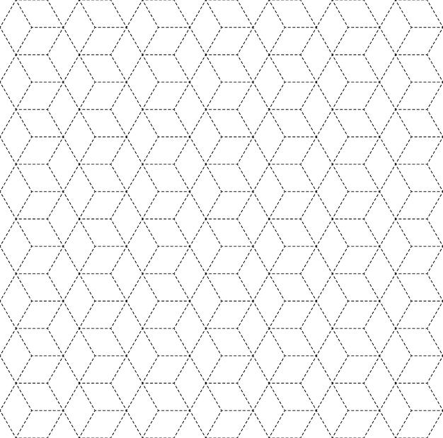 Куб вектор бесшовные модели, повторяя фон геометрические плитки с ромбами
