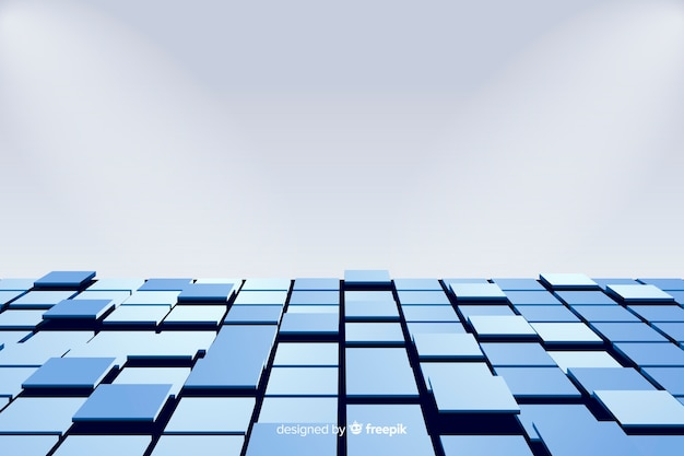 Cubes floor realistic background