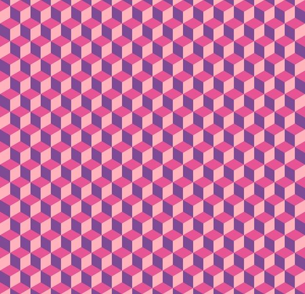큐브 패턴 3d, 기하학적 간단한 배경입니다. 우아하고 고급스러운 스타일의 일러스트레이션
