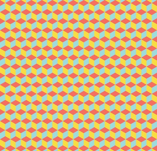 큐브 패턴입니다. 추상적인 기하학적 배경입니다. 고급스럽고 우아한 스타일의 일러스트레이션