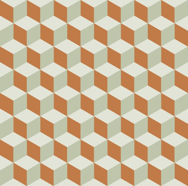큐브 패턴입니다. 기하학적 간단한 배경입니다. 창의적이고 우아한 스타일의 일러스트레이션