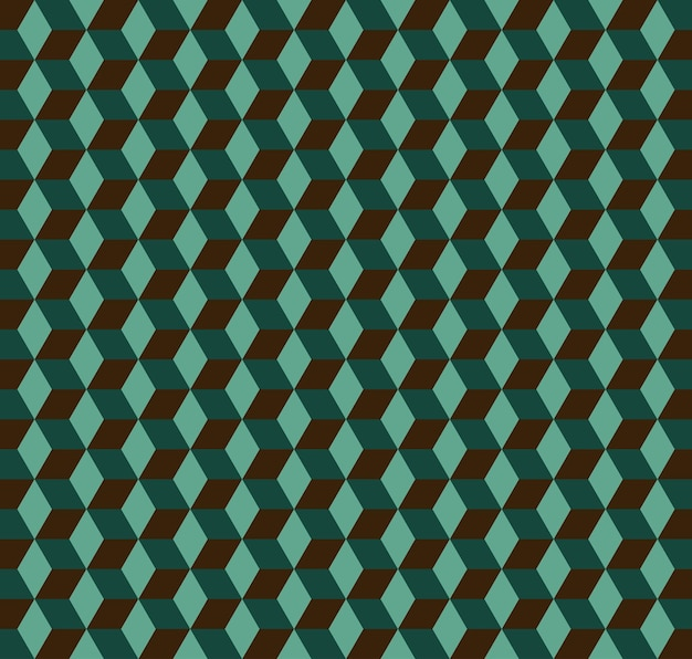 큐브 패턴입니다. 기하학적 간단한 배경입니다. 창의적이고 우아한 스타일의 일러스트레이션 프리미엄 벡터