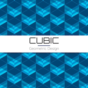 Cubic abstract geometric seamless pattern
