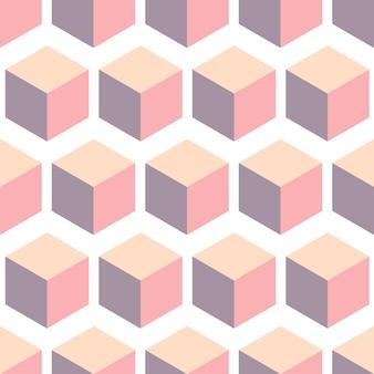 Cubic seamless pattern