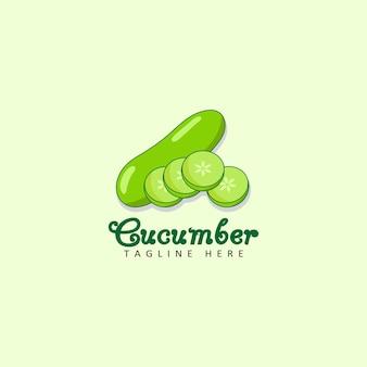 Cucumber logo template design vector
