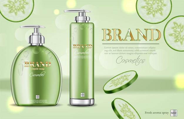 Cucumber soap and shampoo