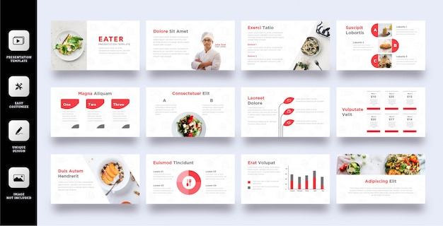 Culinary business presentation template