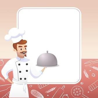요리 컨셉 일러스트 레스토랑 사업