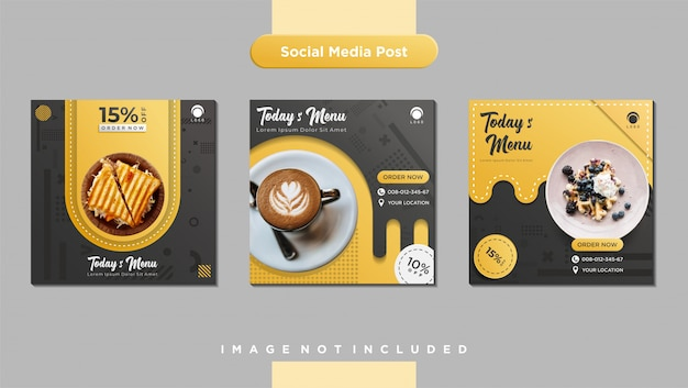 Culinary social media feed post template
