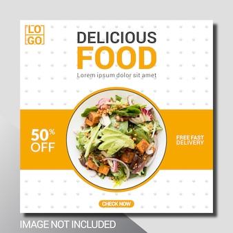 Culinary social media post template