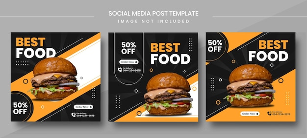 요리 소셜 미디어 게시물 템플릿