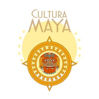 Cultura maya postcard