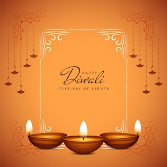 Cultural indian festival happy diwali greeting background