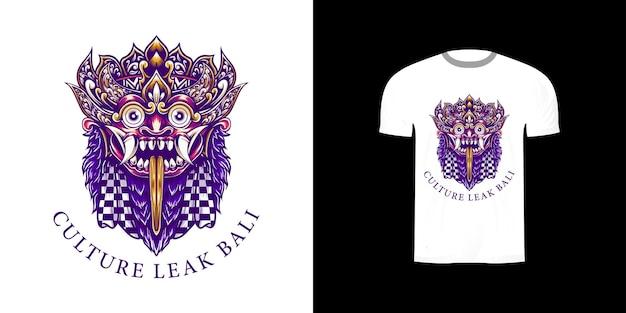 Утечка культуры бали принт для дизайна футболки