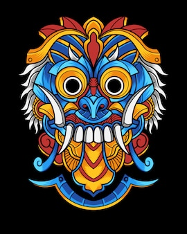 Culture mask illustration