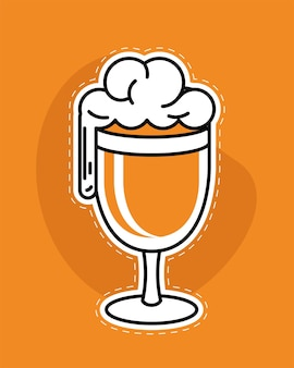 泡の入ったカップビール