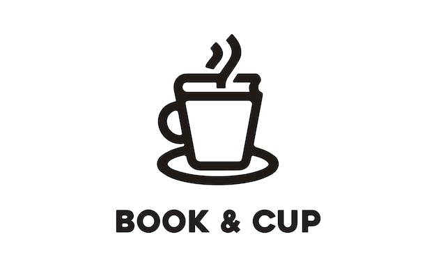 Cup and book logo design