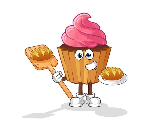 パン漫画とカップケーキパン屋