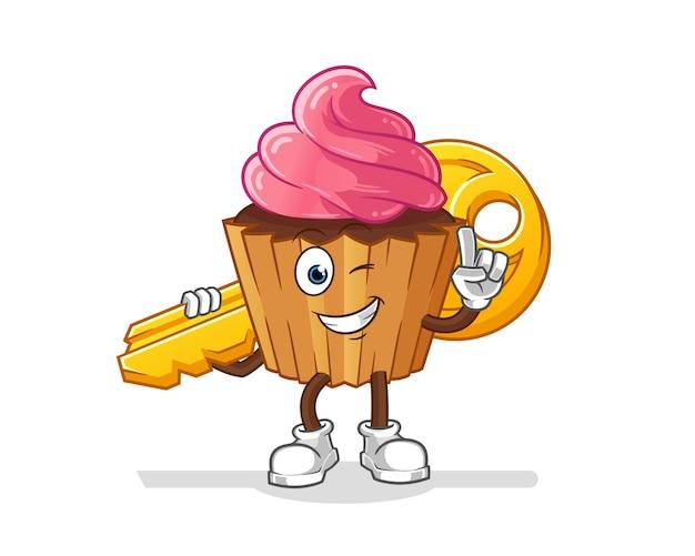 カップケーキはキーマスコットを運ぶ