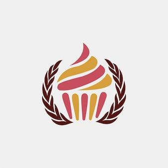 Кубок торт дизайн логотипа для вашего бизнеса