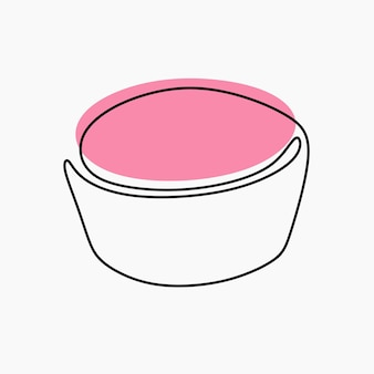 Cup cake oneline continuous line art