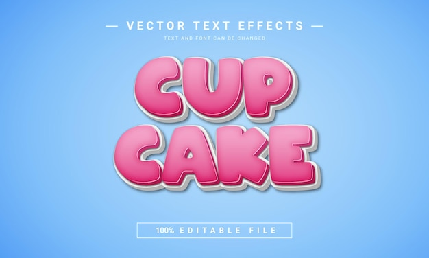 Cup cake text effect