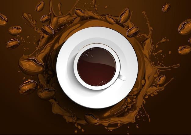 カップコーヒー抽象的な背景