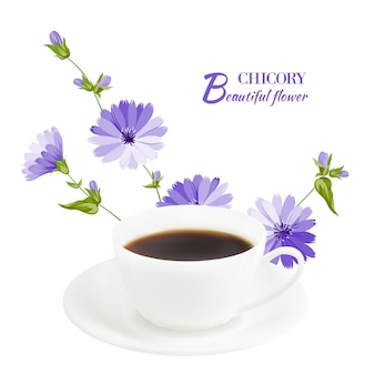 Cup of coffee and chicory