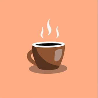 A cup of coffee symbol logo vector illustration