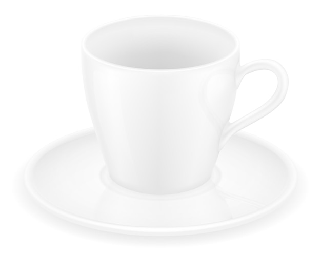 커피와 차 화이트 컵
