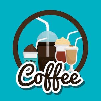 Cup glass coffee straw
