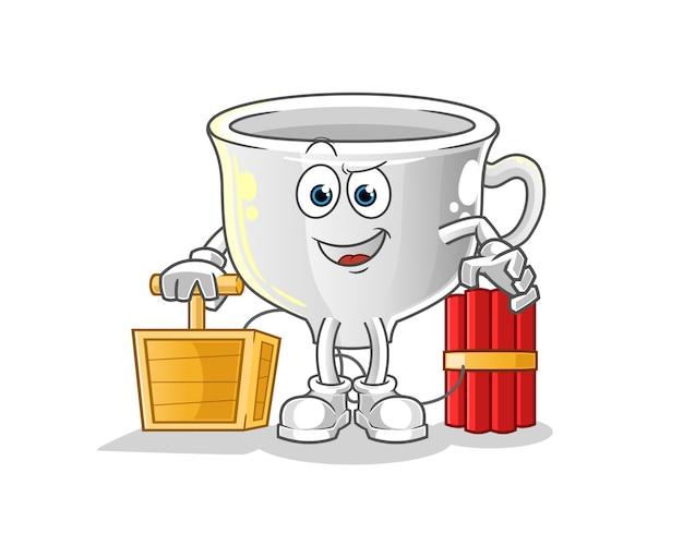 Чашка с динамитным детонатором. мультфильм талисман
