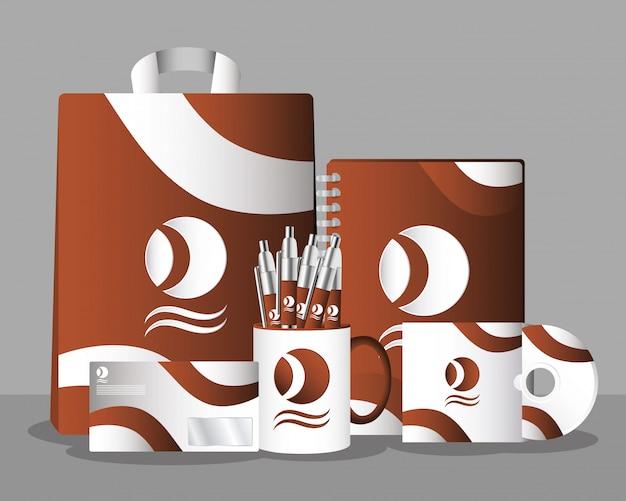 Чашка кружка с ручками и брендингом на сумке