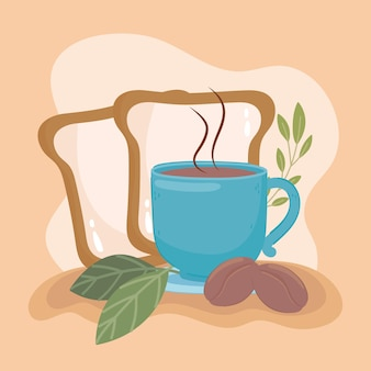 커피와 빵 한 잔
