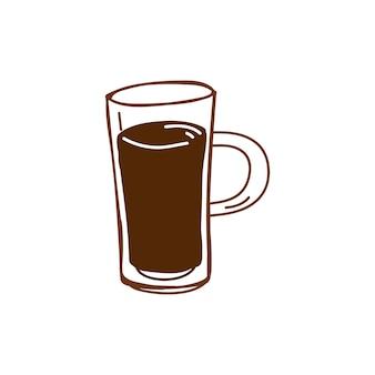 Чашка кофе кафе значок вектора