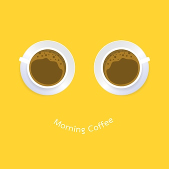 Cup of Coffee. Flat Design. Banners, Posters, Cards