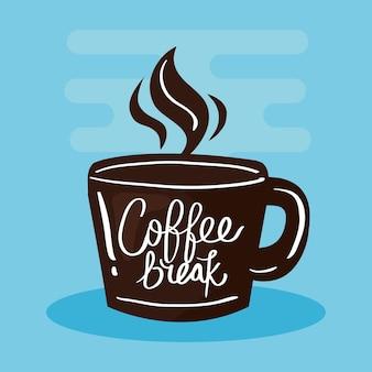 蒸気とコーヒーのカップ